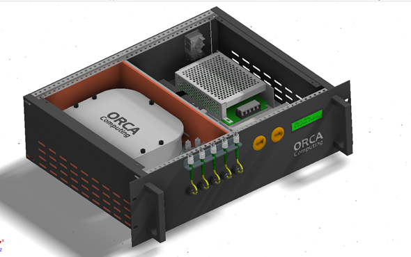 3D rendering of ORCAs quantum processor