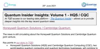 The Quantum Insider Insights – Volume 1 – Honeywell Quantum Solutions / Cambridge Quantum