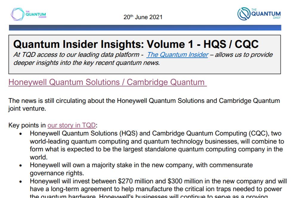 Quantum Insider Insights