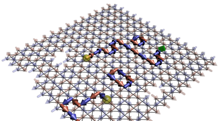 Quantum-Annealing Computer Isolates Emergent Magnetic Monopoles